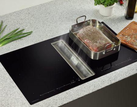 airodesign kookplaat met afzuiging